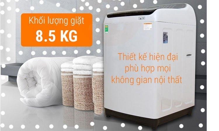 Máy giặt Samsung 8.5Kg WA85M5120SG khối lượng giặt 8.5 kg