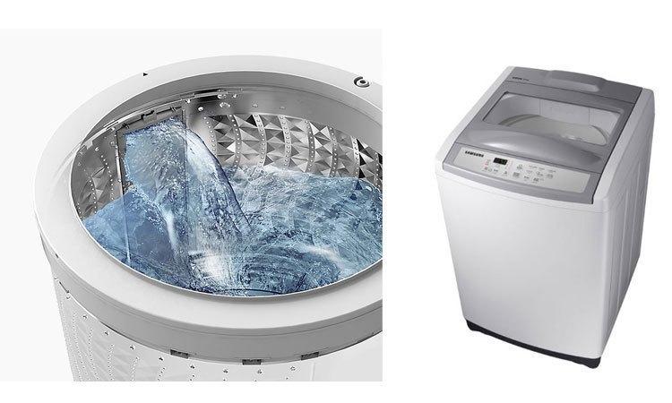 Máy giặt Samsung 8.5Kg WA85M5120SG giặt sạch tối ưu, quần áo trắng sạch thơm tho