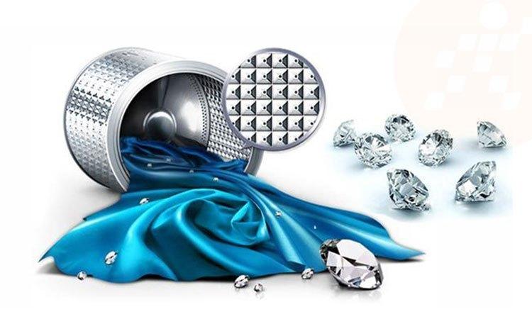 Máy giặt Samsung 8.5Kg WA85M5120SW lồng giặt kim cương độc đáo