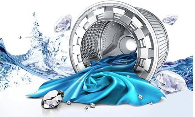 Máy giặt Samsung WW80J4233GW-SV lồng giặt kim cương