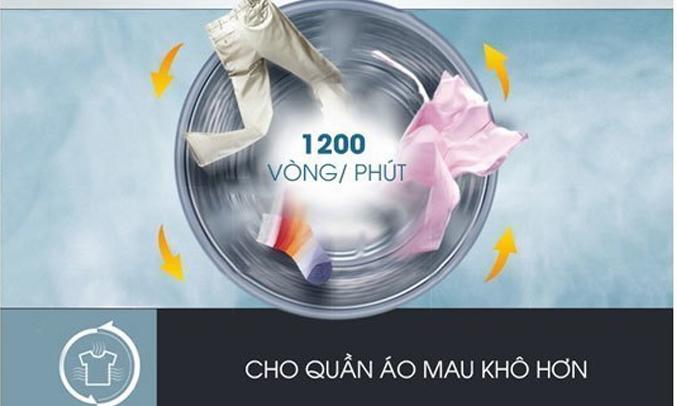 Máy giặt Samsung WW80J4233GW-SV vắt khô quần áo