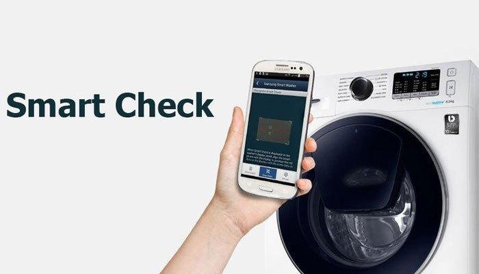 """""""Bắt bệnh"""" máy giặt Samsung dễ dàng với Smart Check"""