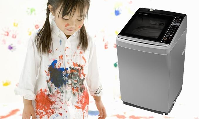 Máy giặt Aqua AQW-D901BT (S) loại bỏ vết bẩn cứng đầu