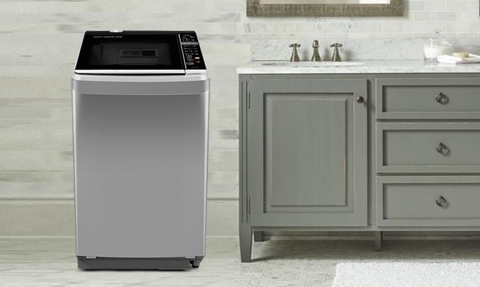 Máy giặt Aqua AQW-D901BT (S) tinh khôi, trang trọng