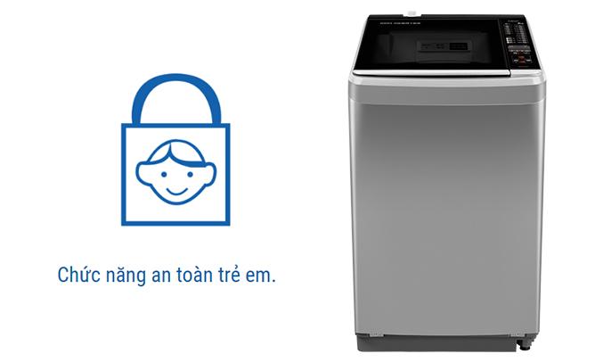 Máy giặt Aqua AQW-D900BT (S) an toàn cho trẻ