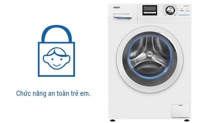 Máy giặt Aqua AQD-D850ZT (W) an toàn trẻ em