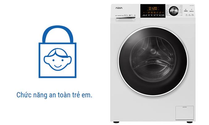 Máy giặt Aqua AQD-D1000A (W) an toàn cho trẻ em