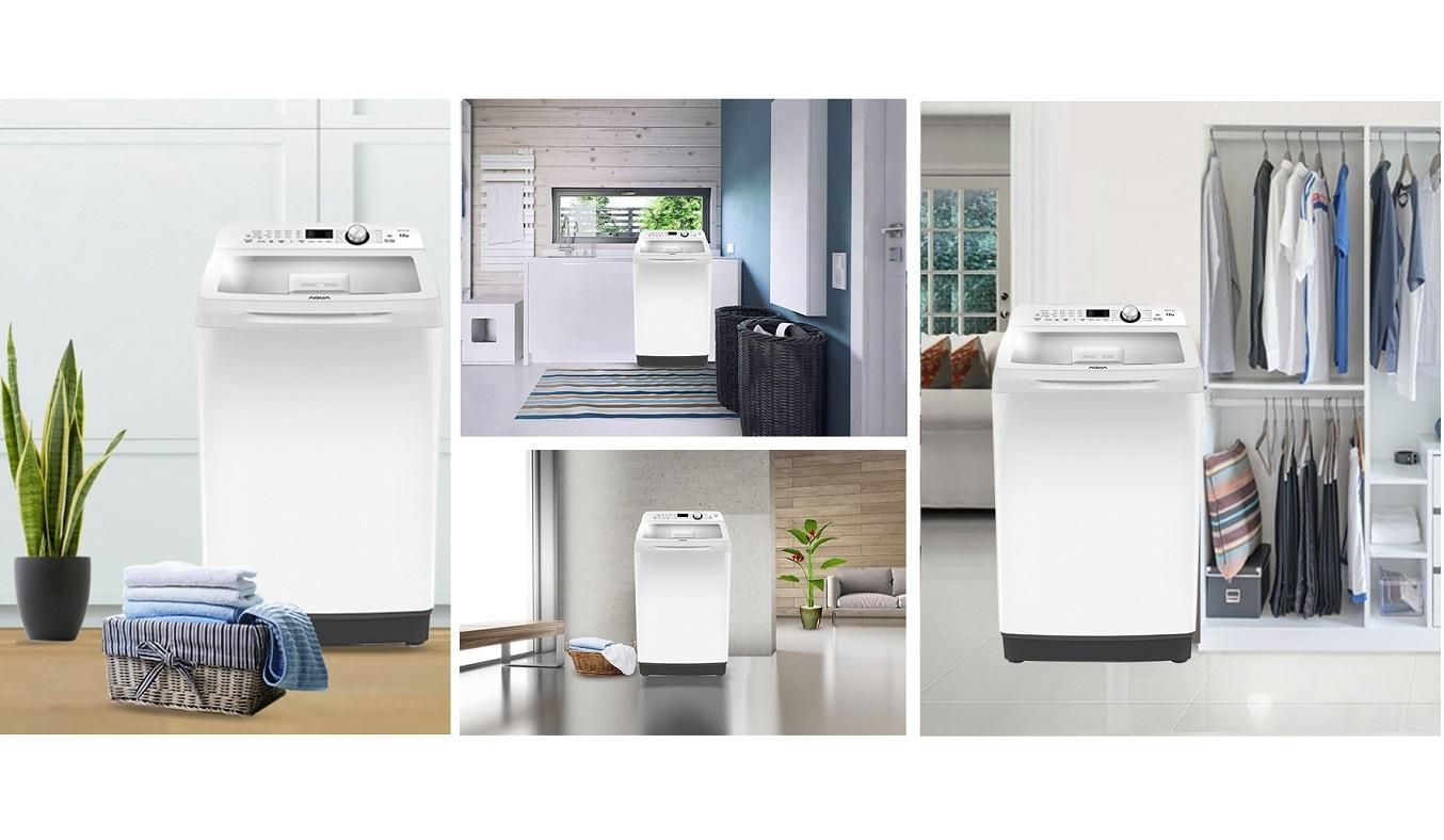 Máy giặt Aqua 12 kg AQW-FR120CT (W) sở hữu thiết kế sang trọng hiện đại