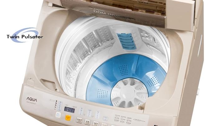 Máy giặt Aqua 9 kg AQW-DQW90ZT mâm giặt kép hiện đại
