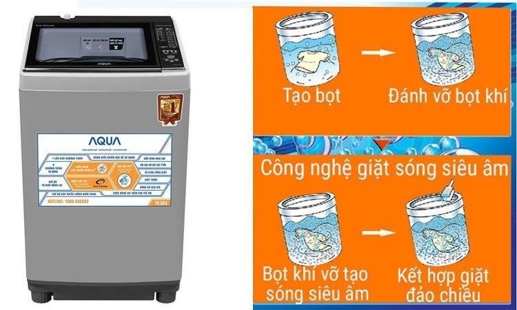 Máy giặt Aqua AQW-FW15AT (S) đánh bay các vết bẩn cứng đầu