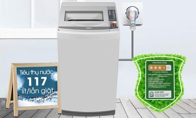 Máy giặt Aqua AQW-S70AT (H) tiết kiệm điện, nước
