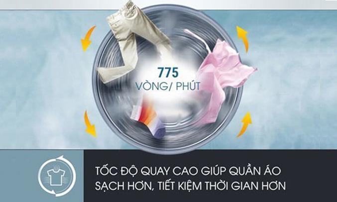 Máy giặt Aqua AQW-S70AT (H) quần áo khô ráo nhanh chóng