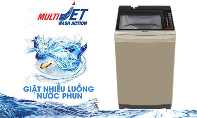 Máy giặt Aqua AQW-W90AT (N) giặt sạch mọi vết bẩn