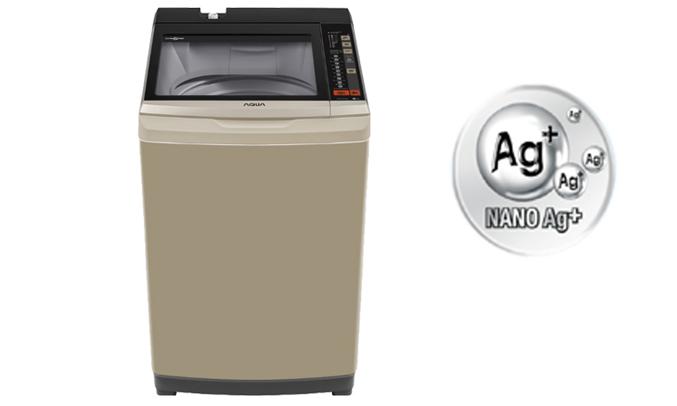 Máy giặt Aqua AQW-W90AT (N) công nghệ nano bạc diệt khuẩn