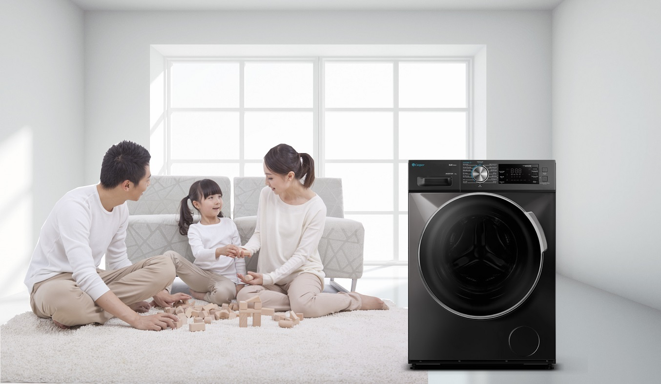 Máy giặt Casper Inverter 8.5 kg WF-85I140BGB - tiết kiệm điện