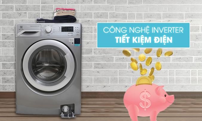 Máy giặt Electrolux EWF12853S công nghá» Inverter tiết kiá»m Äiá»n