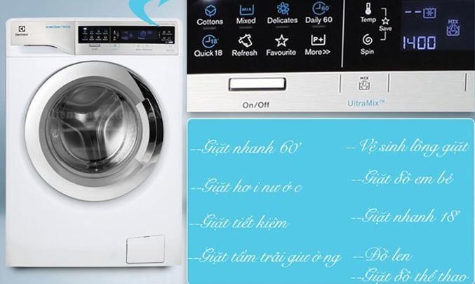 Máy giặt Electrolux EWWF14113S điều khiển chạm tiện lợi