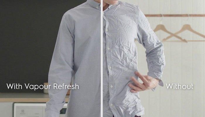 Quần áo sẽ luôn như mới với Vapour Refresh trên máy giặt Electrolux