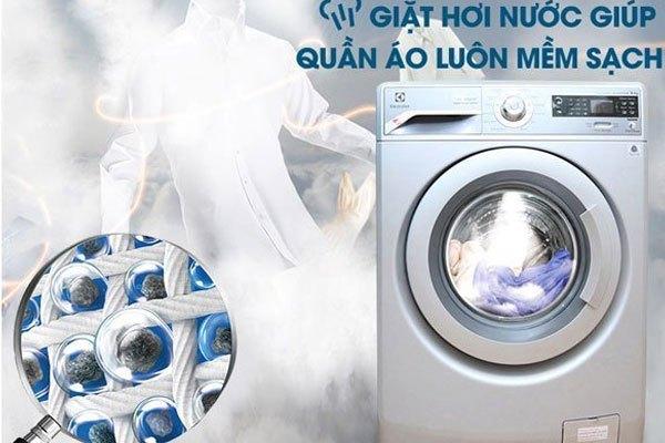 Làn da nhạy cảm sẽ được bảo vệ toàn diện với chức năng hơi nước trên máy giặt Electrolux