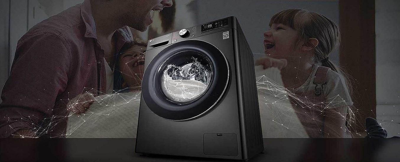 Máy giặt LG Inverter 10.5 kg FV1450S2B - thiết kế thanh lịch