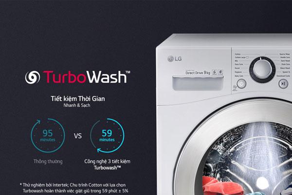 Giặt sạch và tiết kiệm thời gian tối ưu với TurboWash