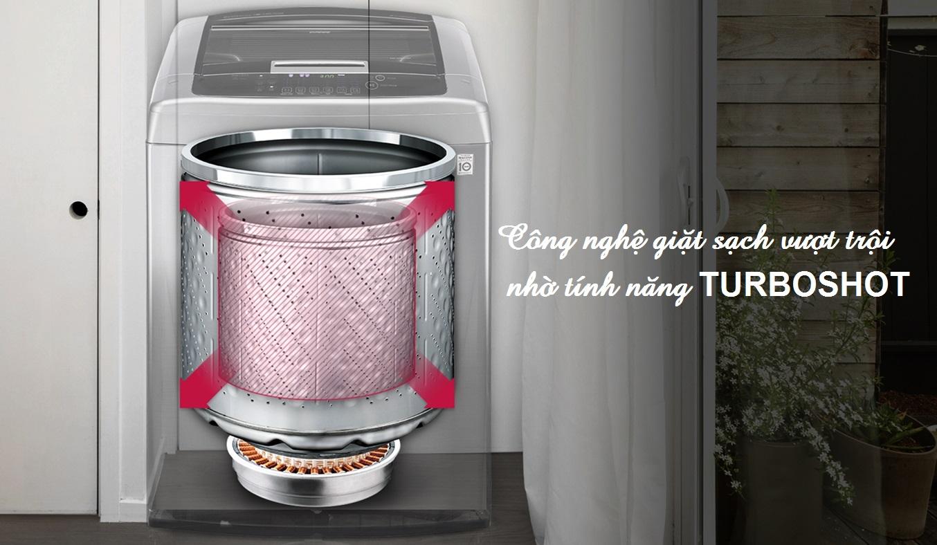 Máy giặt LG 10 KG T2310DSAM hiệu quả giặt sạch áo quần vượt trội