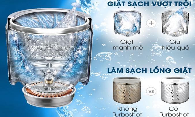 Máy giặt LG 12 KG T2312DSAV hiệu quả giặt sạch áo quần vượt trội