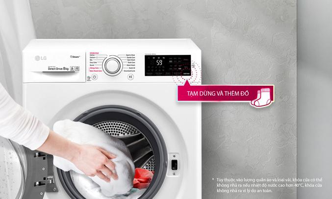 Máy giặt LG 8KG FC1408S4W2 có 14 chương trình giặt sạch phù hợp với từng loại áo quần