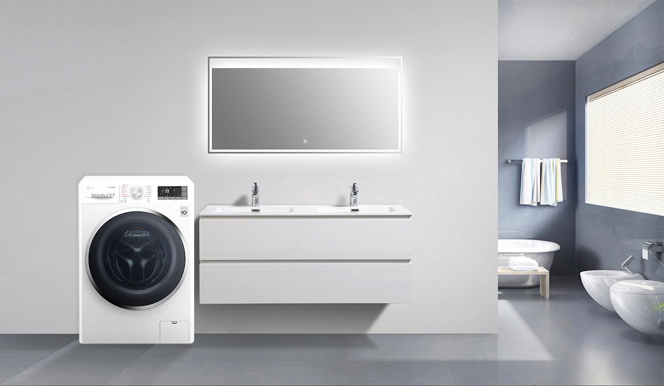 Máy giặt LG 9KG FC1409S2W hoạt động êm ái