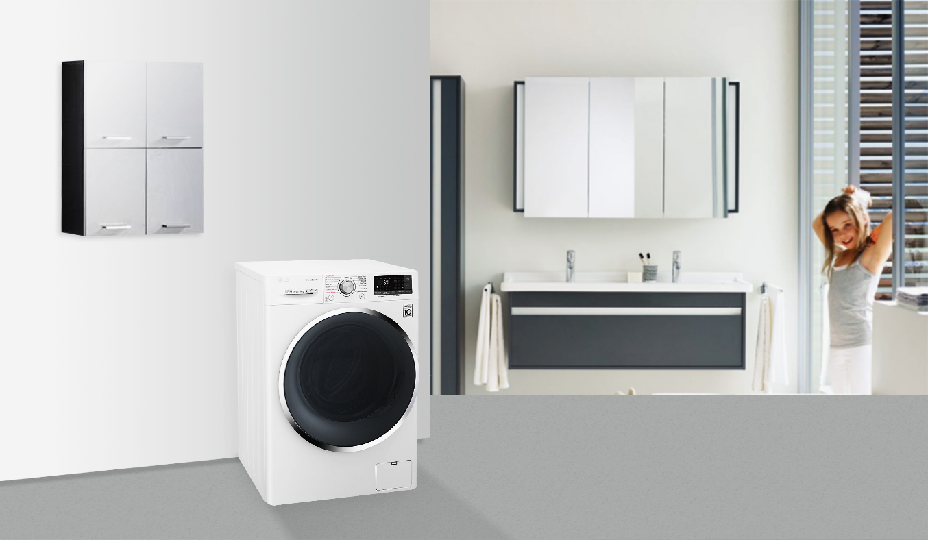 Máy giặt LG 9KG FC1409S2W tiết kiệm điện