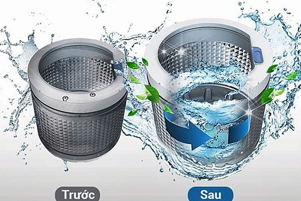 Máy giặt LG T2385VSPW có khả năng tự động vệ sinh lồng giặt hiệu quả