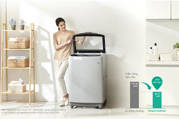 Động cơ Smart Inverter giúp máy giặt tránh rung lắc hiệu quả
