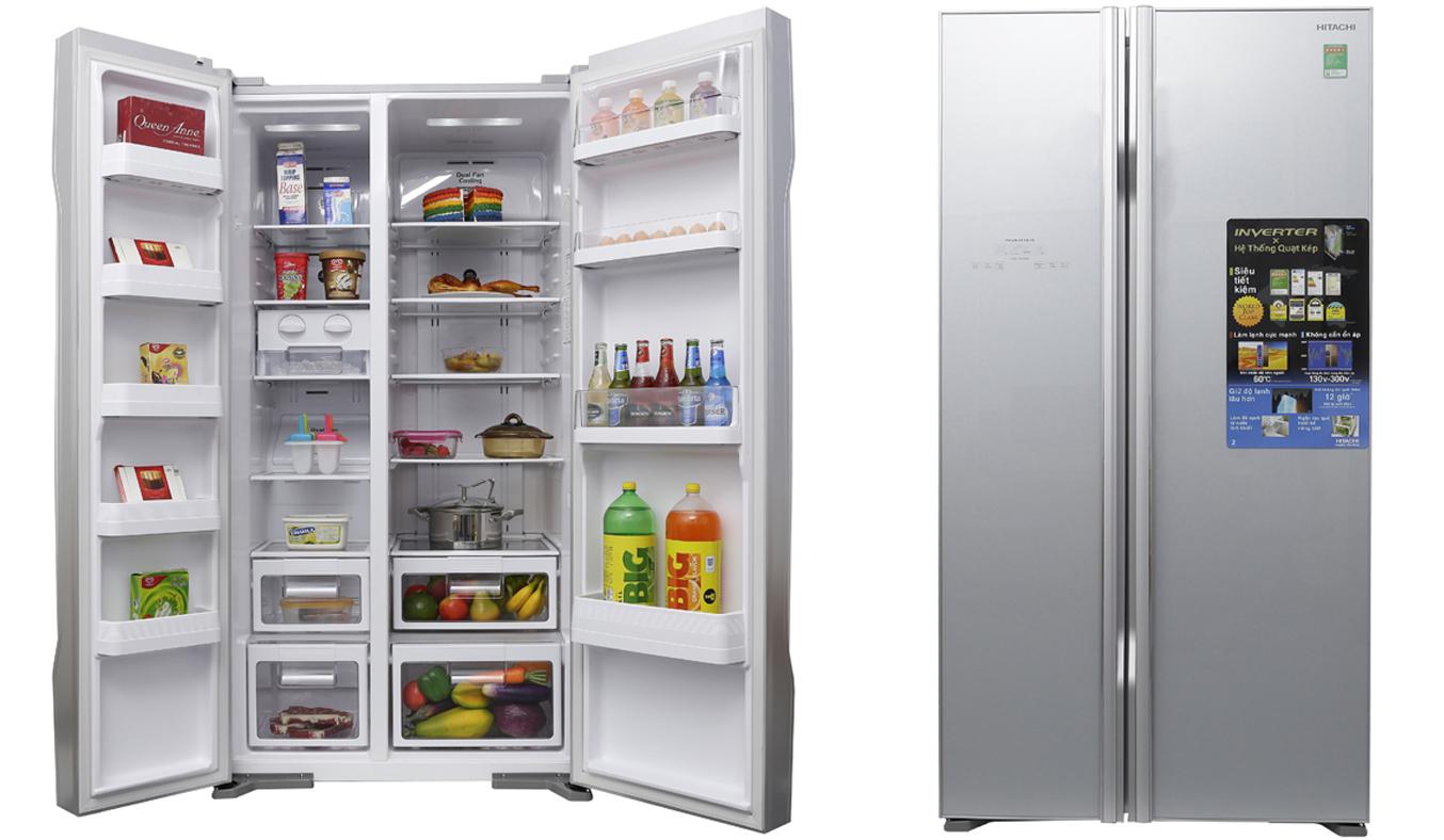 Tủ lạnh có thiết kế Side by Side với 2 cửa