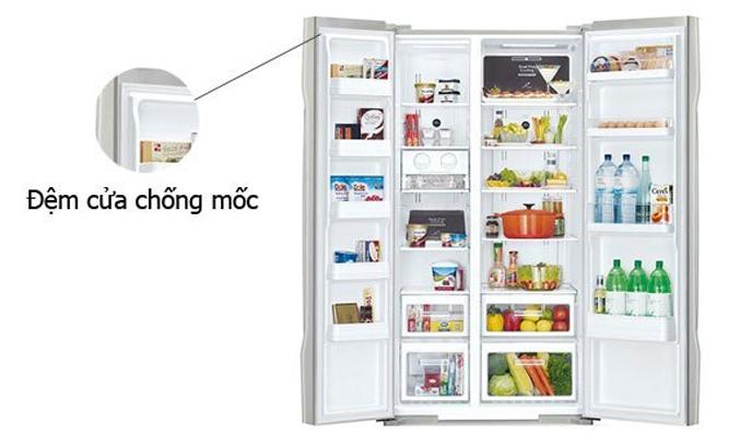 Tủ lạnh Hitachi R-S700PGV2 có đệm cửa chống mốc