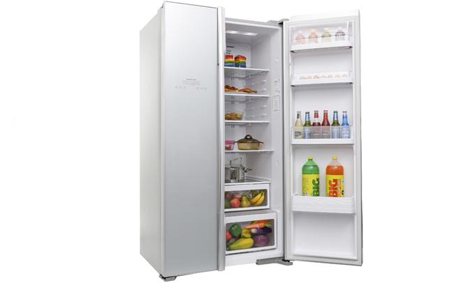 Tủ lạnh Hitachi R-S700PGV2 589 lít bạc có cảm bến ECO thông minh