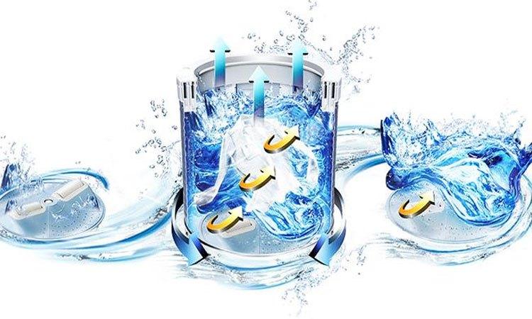 Máy giặt Aqua 11.5 Kg AQW-UW115AT (S) giặt sạch áo quần vượt trội