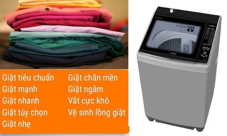 Máy giặt Aqua 11.5 Kg AQW-UW115AT (S) 9 chương trình giặt sạch tiện dụng