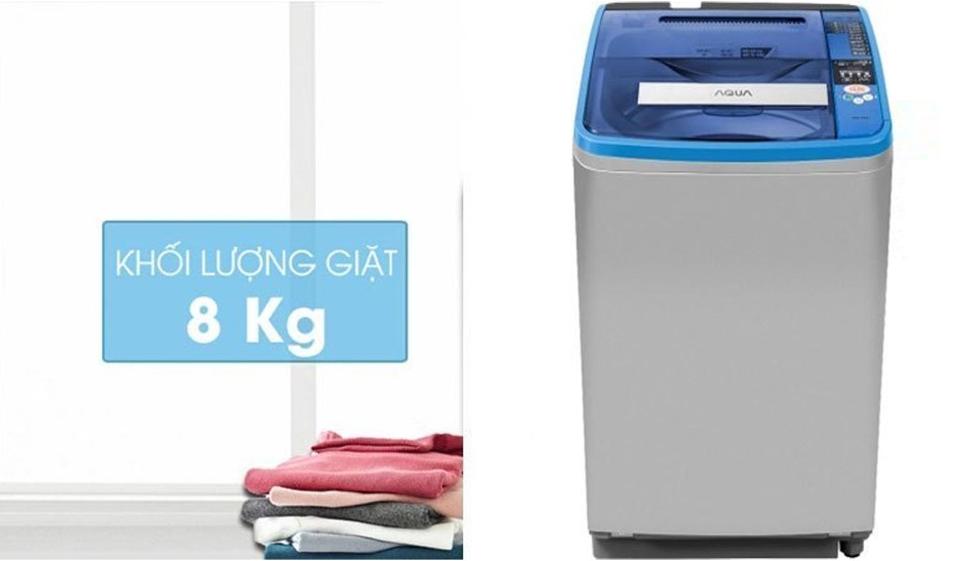 Máy giặt Aqua AQW-F800AT thiết kế đơn giản, hiện đại