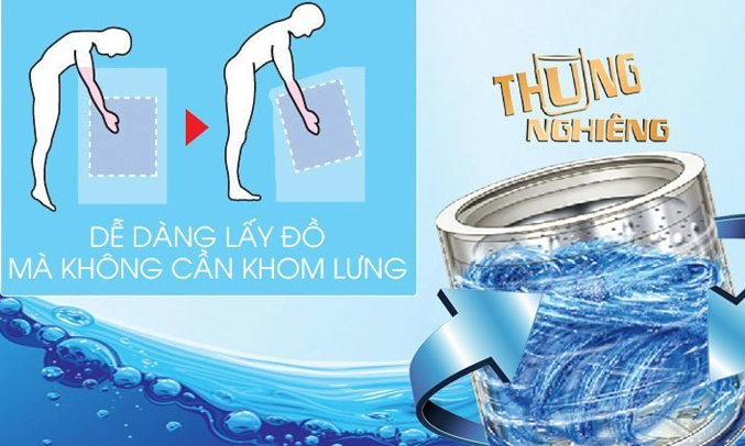 Máy giặt Aqua AQW-F800AT tiết kiệm nước hiệu quả