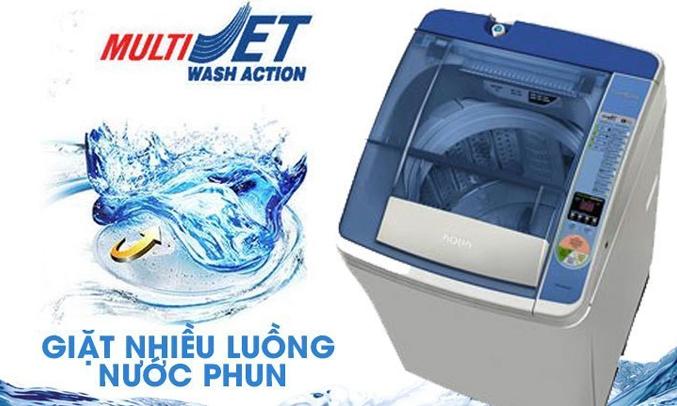 Máy giặt Aqua AQW-F800AT đánh bật các vết bẩn khó giặt nhất