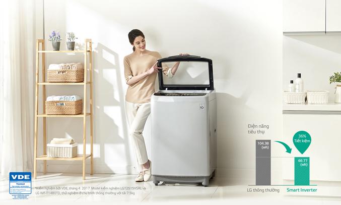 Công nghệ Smart Inverter giúp máy giặt tiết kiệm năng lượng vượt trội lên đến 36%