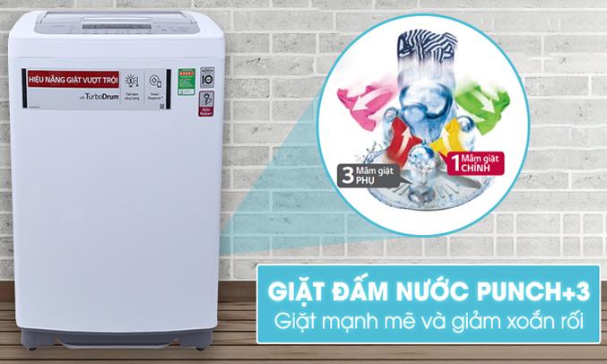 Công nghệ đấm nước Punch+3 hoạt động dựa trên cấu tạo của mâm giặt chính và 3 mâm giặt phụ