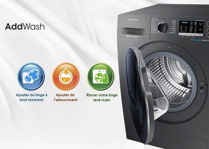 Mua máy giặt ở đâu tốt? Máy giặt Samsung 8.5 kg WD85K5410OX