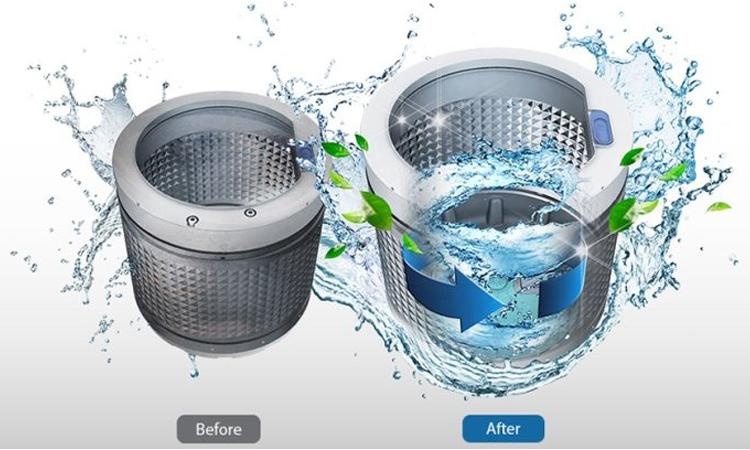 Máy giặt Sharp ES-U82GV-H tự động làm sạch lồng giặt thông minh