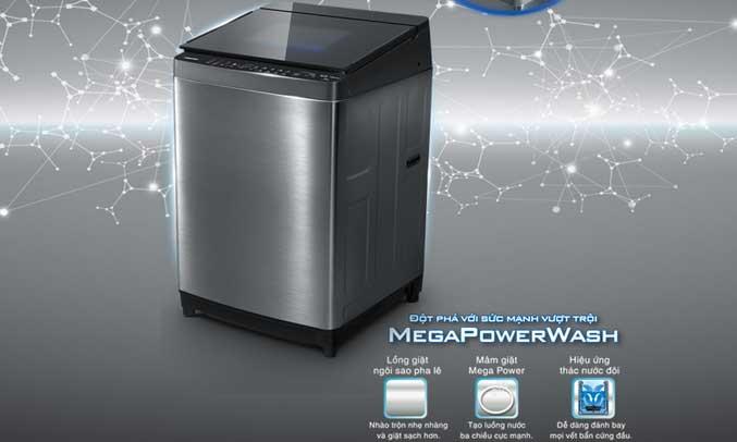 Máy giặt Toshiba AW-DG1600WV (SK) sử dụng hiệu ứng thác nước đôi