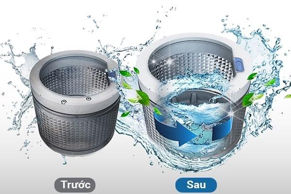 Lồng giặt sẽ sạch nhanh chóng mà không mất thời  gian của bạn nhờ chế độ tự vệ sinh