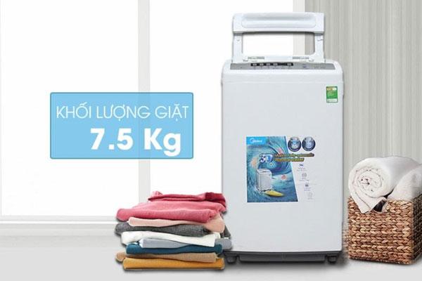 Chỉ số khối lượng giặt trên máy thường được ghi rõ bên ngoài sản phẩm để người dùng dễ dàng tuân theo