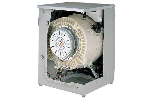 Máy giặt truyền động trực tiếp có động cơ gắn vào lồng giặt
