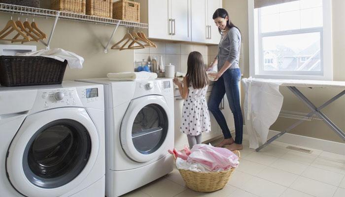 Máy giặt sạch bóng sẽ mang đến tài vận cho nhà bạn