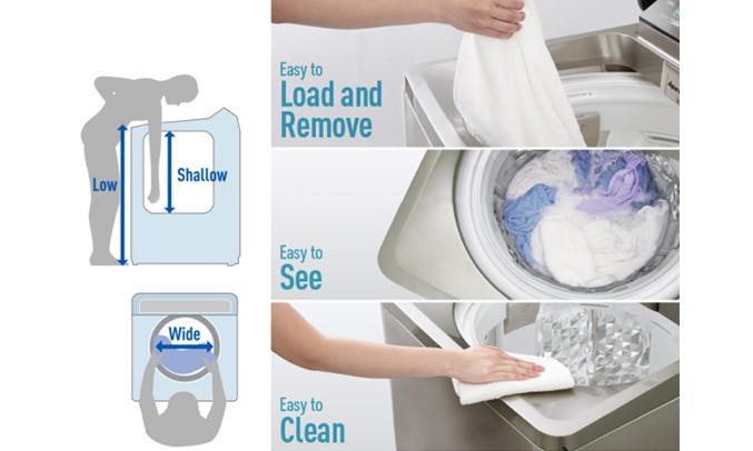 Máy giặt Panasonic NA-F90A4GRV dÃªÌ sÆ°Ì duÌ£ng
